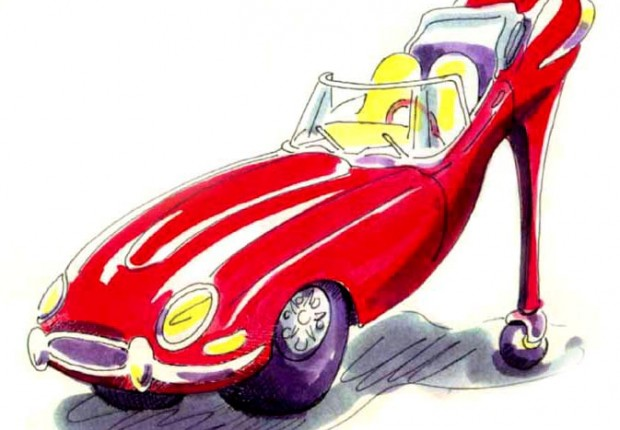 Anne Tilby E type shoe car-toon2