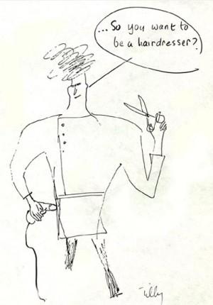 Anne Tilby hairdresser cartoon 1978