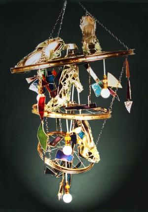 tilby high heel cycle chandelier