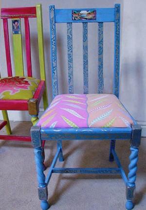 tilby blue chair