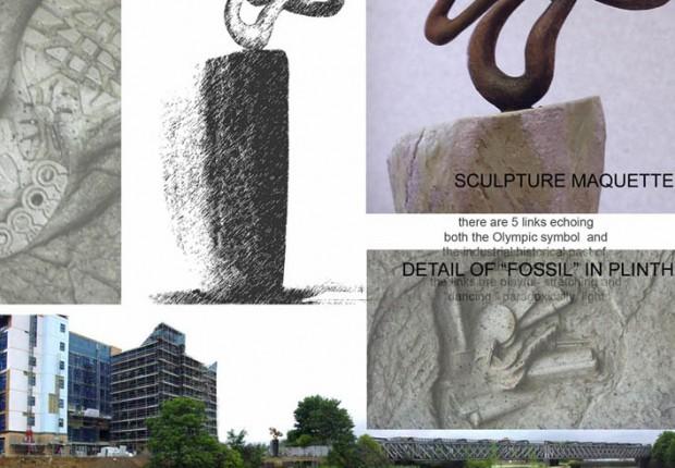 Anne tilby composite Bellway sculpture