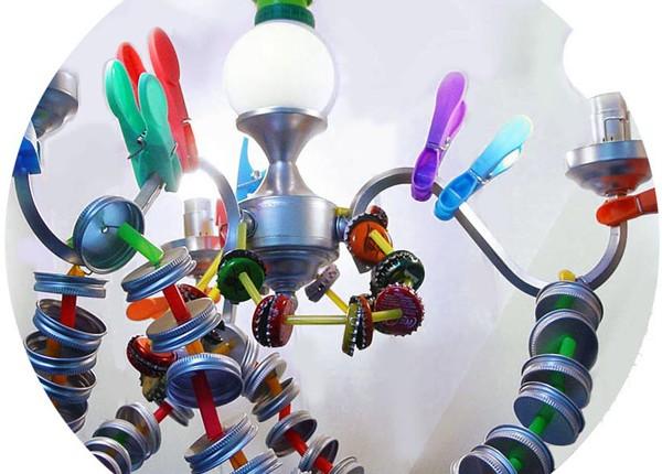 tilby trash bottle top chandelier