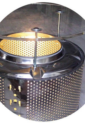 trash factory machine drum light table